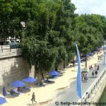 Der Stadtstrand Paris Plages