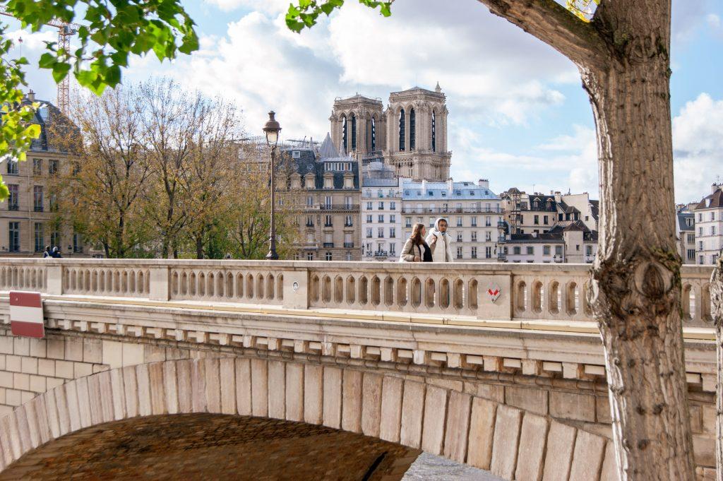 Notre Dame Paris mit Brücke