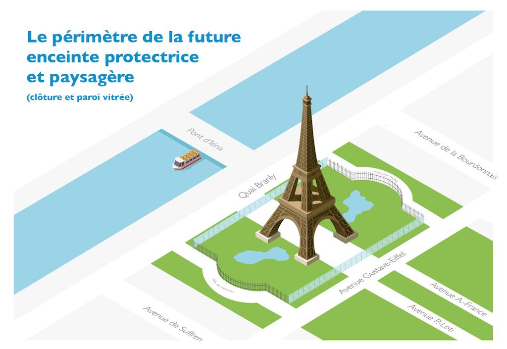 Projekt Glaswand Eiffelturm