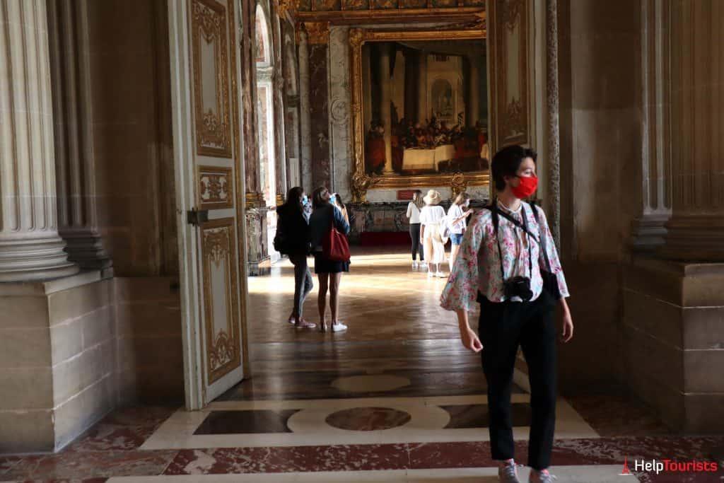 Paris Versailles Besucher Maske Corona