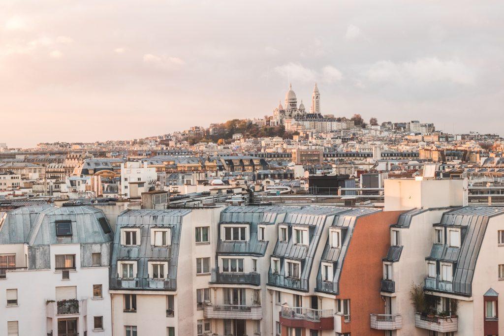 Sacré Coeur über Paris